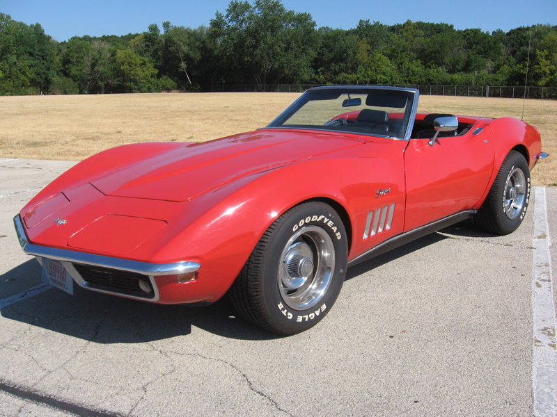 1969 Corvette For Sale >> 1969 Red Corvette Convertible